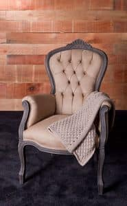 416 Nona, Baroque armchair ideal for hotels