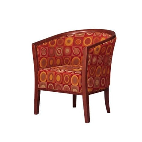 420, Tub chair in beech, padded, for waiting area