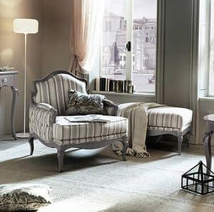 Art. AX407, Bergere armchair, finished with delicate shades