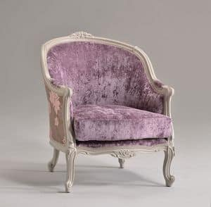 FRIDA armchair 8310A, Armchair in classic style, in beechwood, for rich hotel