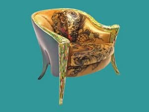 Picture of Opus Futura Tattoo armchair, suitable for castle