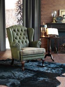 Sinatra, Overstuffed armchair in beechwood