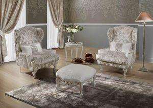 TIFFANY, Very elegant bergere armchair