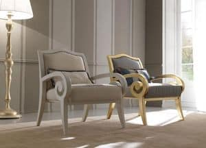 Zara 469 armchair, Armchair in beech wood, with a classic contemporary design, for sitting room and reception