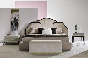 Ariel AR231, Upholstered bed for prestigious bedrooms