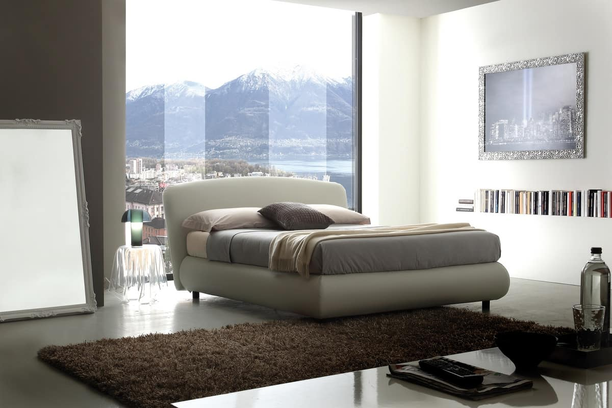 Art. 402 Nuvola, Double bed with storage box, removable cover