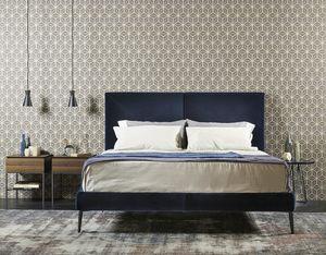 CHARLOTTE, Bed fully covered in leather or velvet