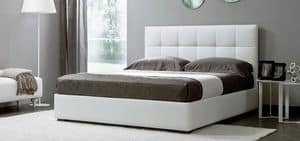 Chic, Double bed with quilted headboard for hotel
