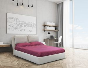 Echo, Double bed with upholstered structure