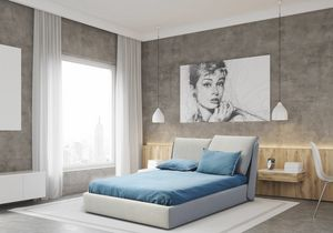 Edith, Bed with upholstered headboard