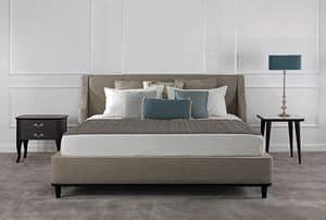 Grace, Double bed handmade, stuffed, in ash