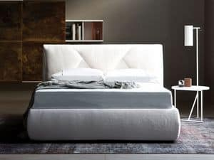 Jardin letto, Double bed, upholstered, for modern bedrooms