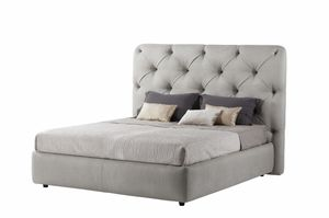 Lancaster bed, Bed fully padded, with capitonn� headboard
