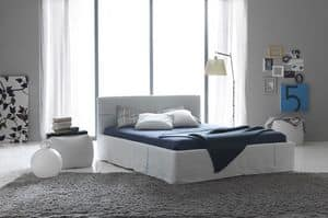 Picture of Metropolitan Chic, beds with fabric headboard