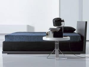 Picture of Nikka, modern bed with fabric upholstery