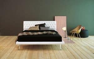 Picture of Notturno, bed with upholstered frame