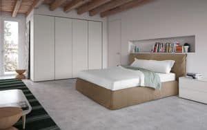 Piumotto, Modern style bed, with padded headboard and bed frame