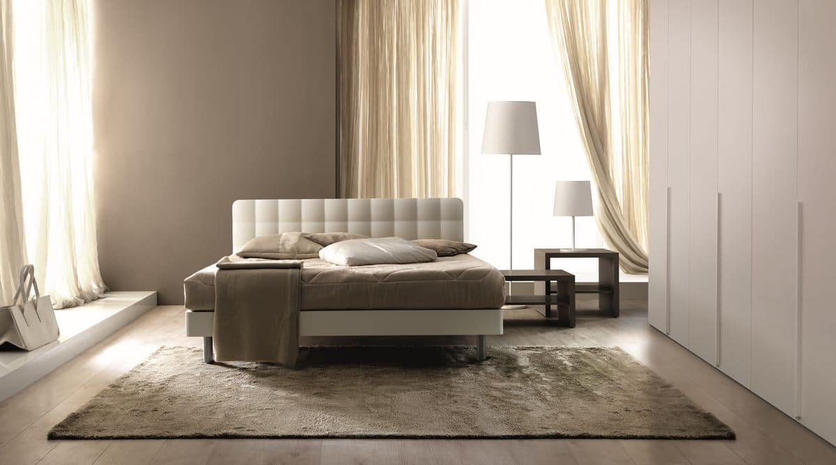 Tender, Upholstered double bed suited for modern bedrooms