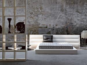 Picture of Vane, bed upholstered in leather