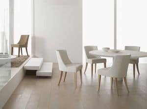 1070, Chair padded with foam, for dining rooms