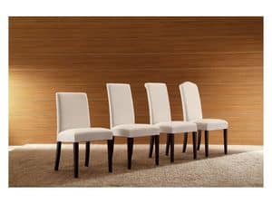 Picture of Giglio S0414, padded classic chair with wood legs