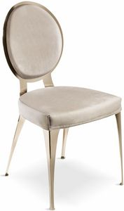 Miss chair with padded backrest, Contemporary chair with padded round backrest