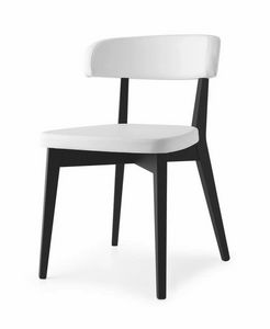Poison, Chair in beechwood, upholstered in leather, in various colors