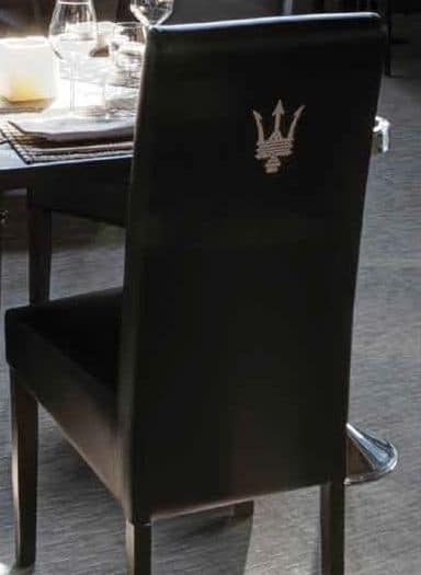 SE 1013.2, Chair with lacquered wood base, covered, for hotels
