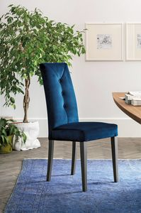 ZURIGO SE503, Modern chair with a high backrest upholstered