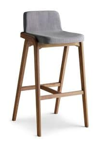 Picture of Decanter barstool, padded-modern-barstool