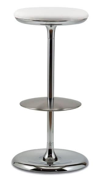 Barstool With Upholstered Round Seat High Design Idfdesign