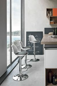 STOCCOLMA SG137, Contemporary stool for bar and kitchen