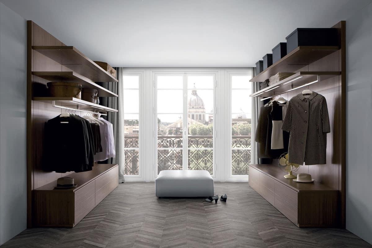 Modern walk in closets wardrobe idfdesign for Modern walk in closets
