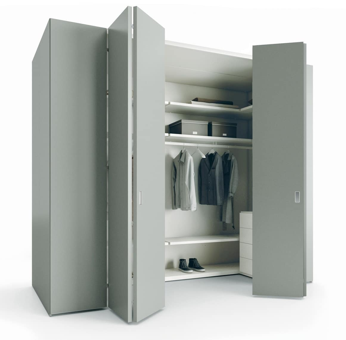 Walk-in Closet Self-supporting, With Essential Design