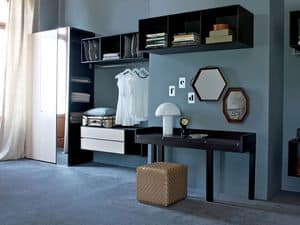 Habitat Carabottini walk-in closet, Modular walk-in closet, Hanging cabinets for wardrobe