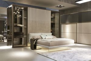 India walk-in closet, Walk-in closet with built-in bed