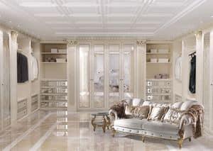 Walk-in closet 01, Customizable walk-in closet in classic  luxury style