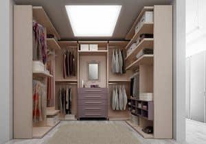 Wardrobe and walk-in closets