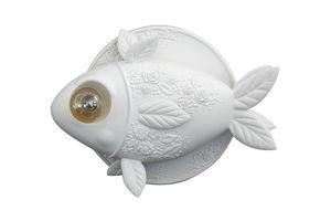 Aprile AP132 1B INT, Wall lamp, fish-shaped, in white ceramic