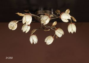 Art. 31250 Fior di Loto, Ceiling lamp with Murano glass decorations