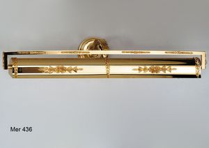 Art. MER 436, Wall lamp for painting made in gold plated 24kt brass