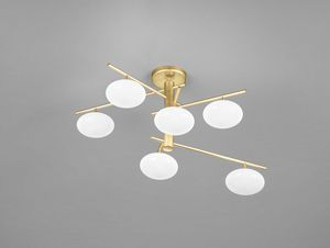 DOLCE H 46, Ceiling lamp with glass spheres