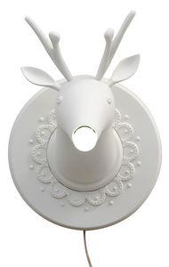 Marn�n AP645M, White ceramic wall lamp, deer-shaped