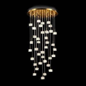 Scintilla PL7610-37-CK, Ceiling lamp in glass with gold details
