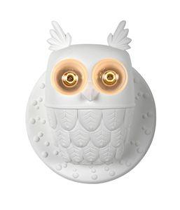 Ti.vedo AP105 1B INT, Applique lamp, owl-shaped, made of ceramic