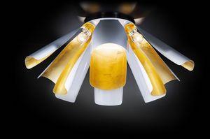 TROPIC � 100, Ceiling lamp in gold leaf