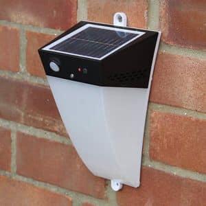 Wall lamp solar garden led Alarm - LA010LED, Wall lamp with alarm and motion sensor