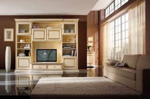 Art.0732/L, Fitted wall for living rooms, classic style