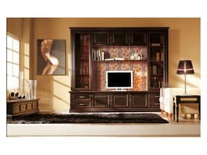 Art.101/L, Equipped wall made of solid wood, classic style