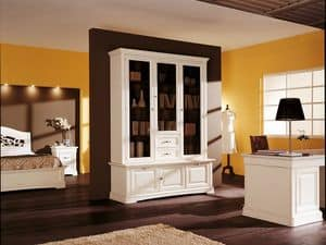 Art.104/L, Classic style cabinet with doors and drawers